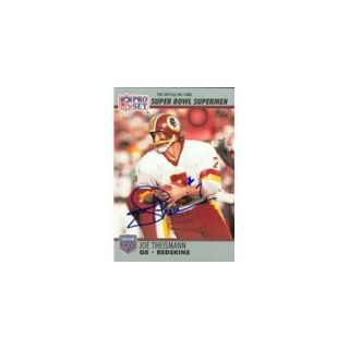 Autograph Warehouse 89160 Joe Theismann Autographed Football Card Washington Redskins 1990 Pro Set No.  133