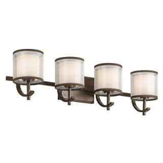 Hampton Bay 4 Light Mission Bronze Wall Vanity Light 89577