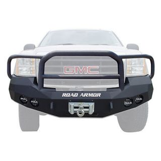 Road Armor Stealth Base Front Bumper With Lonestar Guard 2008 2010 GMC 1500