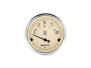 Auto Meter Antique Beige Oil Pressure Gauge