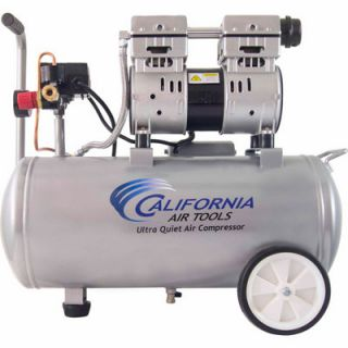 California Air Tools 8010 Ultra Quiet & Oil Free 1.0 HP, 8.0 gal. Steel Tank Air Compressor