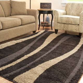 Safavieh Ultimate Cream/ Dark Brown Shag Rug (86 x 12)   13945612