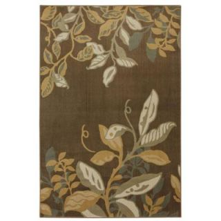Mohawk Home Clarisse Dark Brown 3 ft. 4 in. x 5 ft. Area Rug 311667