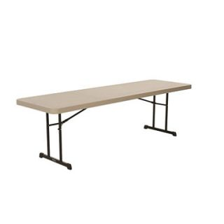 OFFLINE Lifetime 8 Professional Grade Folding Table, Putty