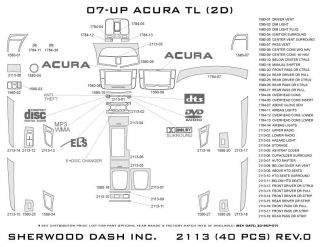 2007, 2008 Acura TL Wood Dash Kits   Sherwood Innovations 2113 CF   Sherwood Innovations Dash Kits