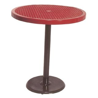 Portable Round Food Court Picnic Table with Diamond Pattern by Ultra
