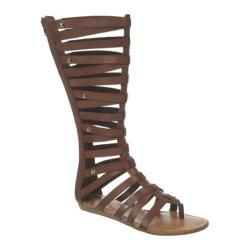 Womens Fergalicious Supreme Brown Synthetic Leather