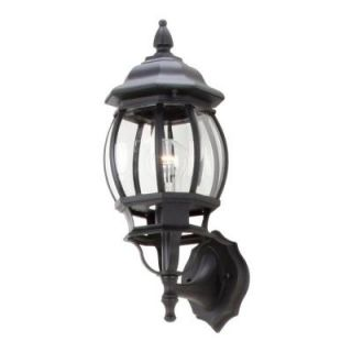 Hampton Bay 1 Light Black Outdoor Small Wall Lantern GNB1611A BK