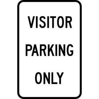 """Visitor Parking Only"" Reflective Traffic Control Sign"