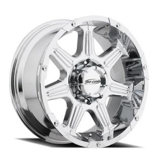 Pro Comp Alloy Wheels   Series 6051 District, 20x9 with 6 on 135 Bolt Pattern   Chrome