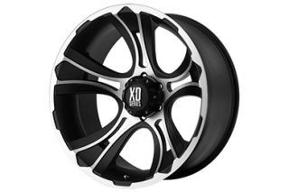 "XD Series XD80129055500   5 x 5.5"" Bolt Pattern Two Tone 20"" x 9"" XD Series 801 Crank Matte Black Machined Wheels   Alloy Wheels & Rims"