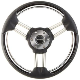 Syntec Stainless Steel Steering Wheel With Black Rim