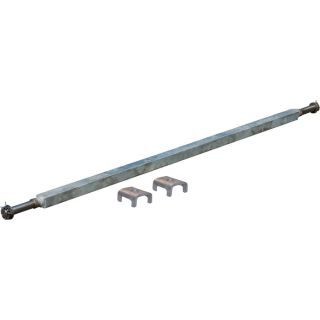 Ultra-Tow 2000-Lb. Capacity Spring Trailer Axle with Adjustable Spring Mounts — 54in. Hubface, 38in.–44in. Spring Center, 59in.L, Straight  Galvanized Trailer Springs
