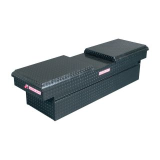WEATHER GUARD 72 in x 20.5 in x 18.375 in Black Aluminum Full Size Truck Tool Box