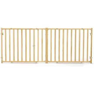 "Midwest 24"" High Wood Gate, Extra Wide, Expands 53"" 96"" Wide"
