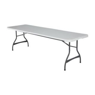 Lifetime 8 ft. White Commercial Stacking Folding Table (4 Pack) 80344