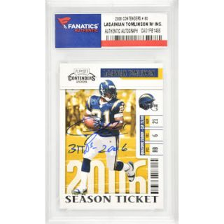 LaDainian Tomlinson San Diego Chargers  Authentic Autographed 2006 Contenders #80 Card with 31 TDs 2006 Inscription