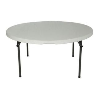Lifetime 60 in. Almond Round Commercial Stacking Folding Table (15 Pack) 880435