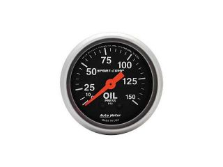 Auto Meter Sport Comp Mechanical Oil Pressure Gauge