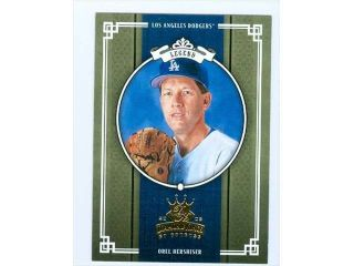 Autograph Warehouse 33371 Orel Hershiser Baseball Card Donruss Diamond Kings 2005 No. 289 Los Angeles Dodgers   Mint Condition