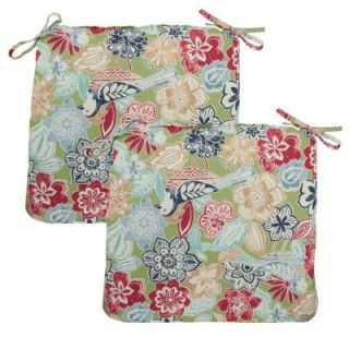Hampton Bay Jean Floral Outdoor Chair Cushion (2 Pack) 7348 02002000
