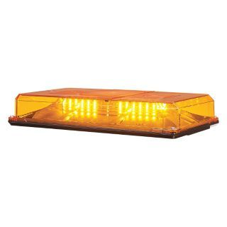 FEDERAL SIGNAL Amber Mini Lightbar, LED Lamp Type, PERMANENT MOUNT Mounting, Number of Heads: 6   Vehicle Light Bars   35GX24|454201HL 02