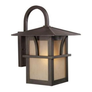Sea Gull Lighting Medford Lakes 1 Light Outdoor Statuary Bronze Wall Mount Fixture 88882 51