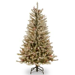 National Tree Company 4.5 ft. Dunhill Fir Slim Tree with Clear Lights