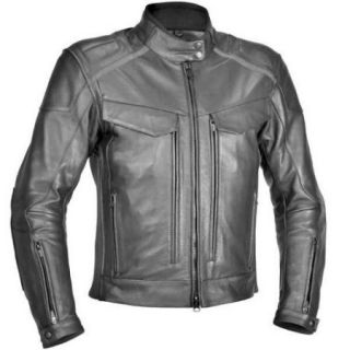 River Road Scout Classic Leather Jacket Black 52