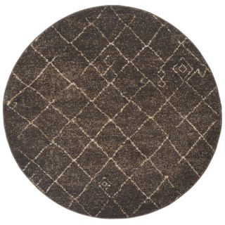 Safavieh Tunisia Dark Brown Rug (6 Round)   16629604