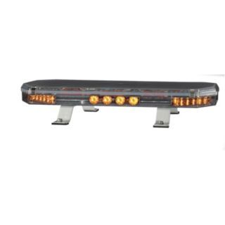 CODE 3 Amber Low Profile Mini Lightbar, LED Lamp Type, Permanent Mounting, Number of Heads: 6   Vehicle Light Bars   13K452|21TR22A1