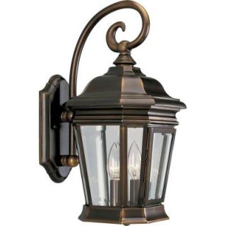 Progress Lighting Crawford Collection 2 Light Oil Rubbed Bronze Wall Lantern P5671 108