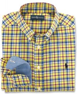 Ralph Lauren Kids Shirt, Boys Blake Long Sleeve Oxford Shirt