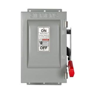 Siemens Heavy Duty 30 Amp 600 Volt 3 Pole Type 12 Non Fusible Safety Switch HNF361J