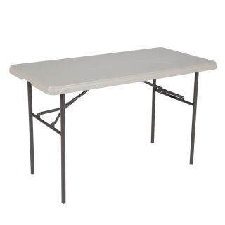 LIFETIME PRODUCTS 48 in x 24 in Rectangle Steel Putty Folding Table