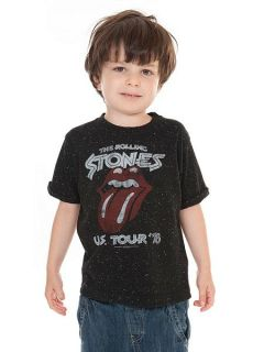 Amplified Kids Kids Rolling Stones Tour T Shirt Black