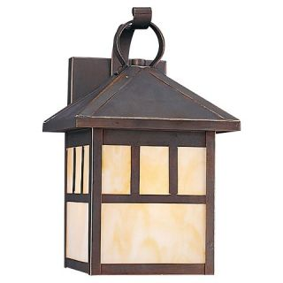 Sea Gull 1 Light Outdoor Wall Lantern   Antique Bronze