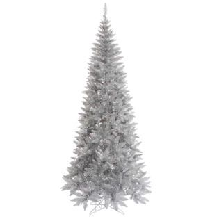 Vickerman 6.5 x 34 Tinsel Silver Slim Fir Tree   Seasonal