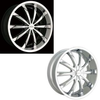 DIP Wheels D66 (Slack) Black Or Chrome Wheels