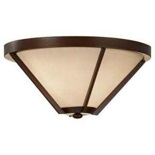Feiss Nolan 2 Light Heritage Bronze Indoor Flush Mount FM366HTBZ