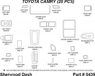 1997 Toyota Camry Wood Dash Kits   Sherwood Innovations 0439 CF   Sherwood Innovations Dash Kits