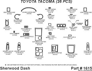 2005 2008 Toyota Tacoma Wood Dash Kits   Sherwood Innovations 1615 CF   Sherwood Innovations Dash Kits