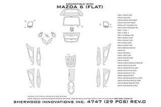 2014 Mazda 6 Wood Dash Kits   Sherwood Innovations 4747 R   Sherwood Innovations Dash Kits