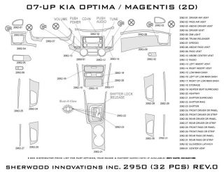 2007, 2008 Kia Optima Wood Dash Kits   Sherwood Innovations 2950 CF   Sherwood Innovations Dash Kits