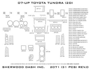 2007, 2008, 2009 Toyota Tundra Wood Dash Kits   Sherwood Innovations 2071 CF   Sherwood Innovations Dash Kits
