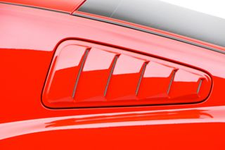 2010 2014 Ford Mustang Window Louvers   3D Carbon 691606   3D Carbon Window Louvers