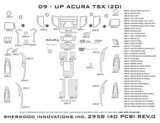 2009 2013 Acura TSX Wood Dash Kits   Sherwood Innovations 2958 CF   Sherwood Innovations Dash Kits