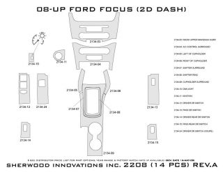 2011 Ford Focus Wood Dash Kits   Sherwood Innovations 2208 N50   Sherwood Innovations Dash Kits