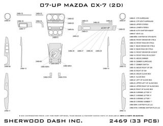 2007, 2008, 2009 Mazda CX 7 Wood Dash Kits   Sherwood Innovations 2469 CF   Sherwood Innovations Dash Kits