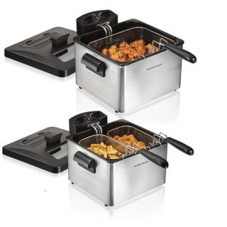 Hamilton Beach 2.84 Liter Dual Basket Deep Fryer